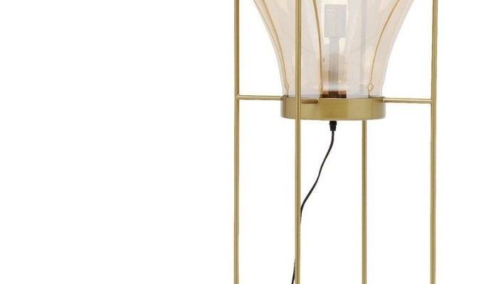 Kare Design Pear Frame Vloerlamp 1-Lichts – Hoogte 158 Cm – Goudkleurig | 4025621513223