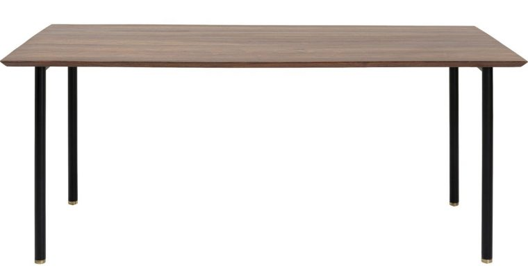 Kare Design Ravello Eettafel – L180 X B90 X H76 Cm – Tafelblad Sheeshamhout – Metalen Poten   4025621851400