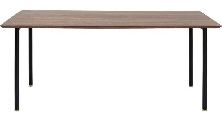 Kare Design Ravello Eettafel – L200 X B100 X H76 Cm – Tafelblad Sheeshamhout – Metalen Poten | 4025621852230