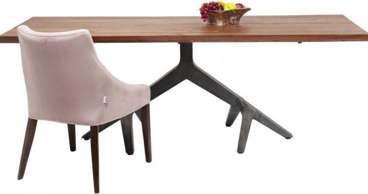 Kare Design – Roots Eettafel – 220x100x77 – Tafelblad Acacia Hout   4025621831617