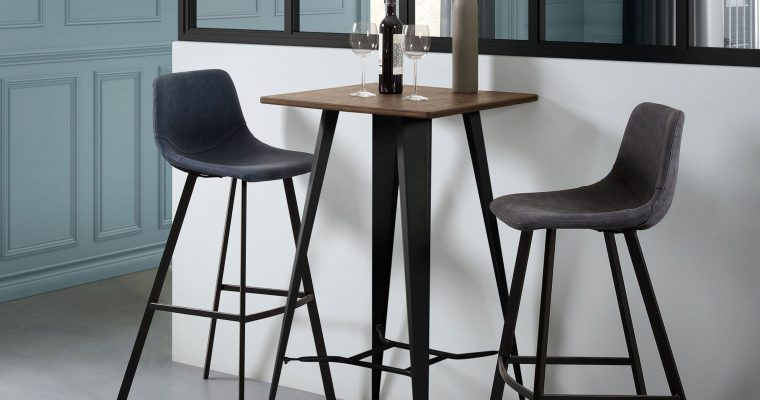 Kave Home Barkruk 'Alve' (zithoogte 80cm), kleur zwart | 8433840425566