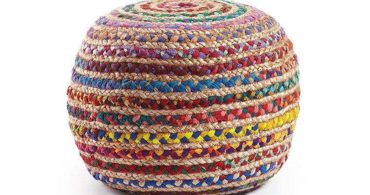 Kave Home poef 'Saht', kleur multicolor   8433840420004