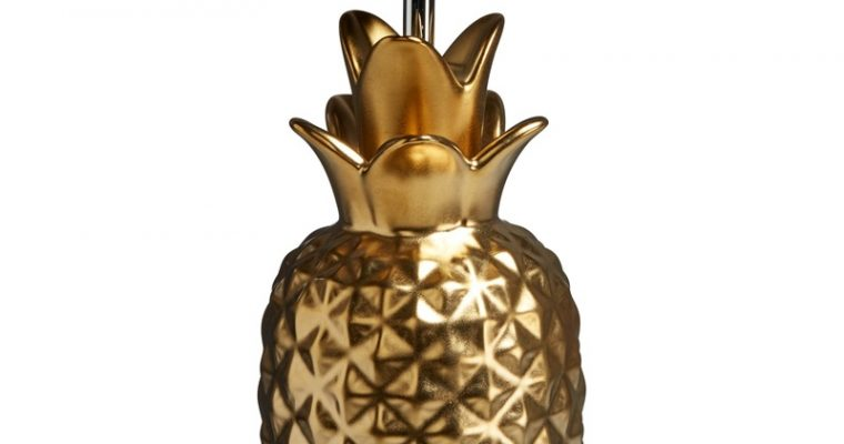 Lampvoet Ananas Goud