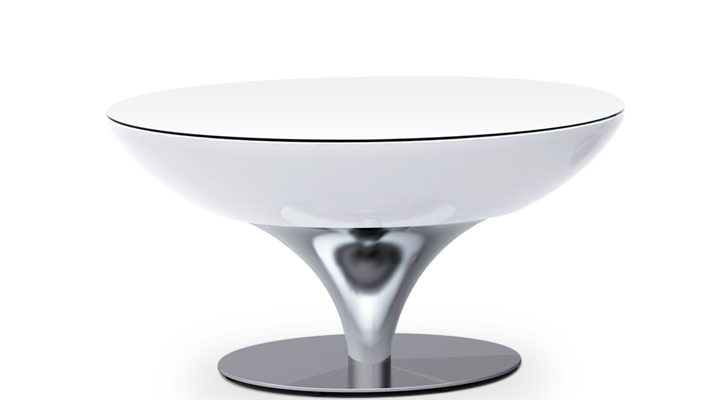 Moree – Ronde Salontafel Lounge – Hoogte 45 Cm LED Pro – Wit | 4260218360631