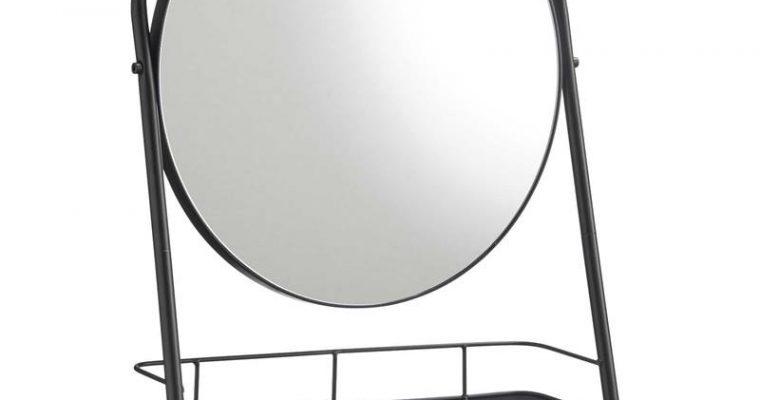 Spiegel Met Plank Zwart Zwart