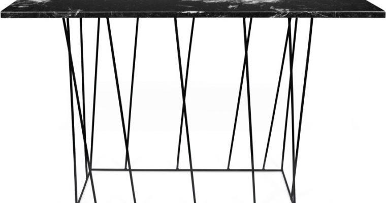 TemaHome Helix Sidetable – 120x40x76 – Zwart Marmer | 5603449627477