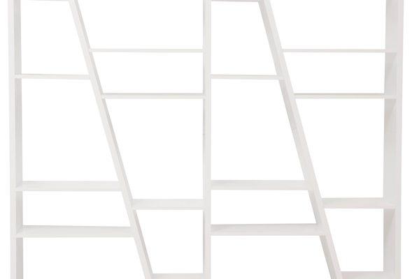 TemaHome Open Boekenkast Delta 004 – B190 X D30 X H195 Cm – Mat Wit | 5603449315336