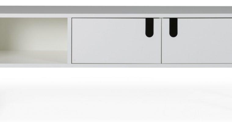 Tenzo UNO TV-meubel 2-Deurs – 1-Vak – 137x40x50 – Wit |