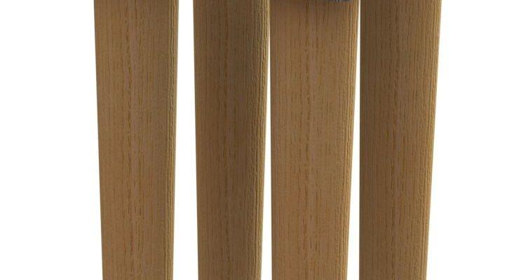 Tenzo Z CUBE – Eikenhouten Poten – Set Van 4 – Voor Opberg Element | 8720143246098