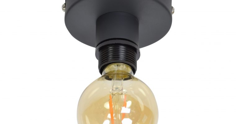 Urban Interiors plafondlamp 'Single', kleur Vintage Black | 8719325171426