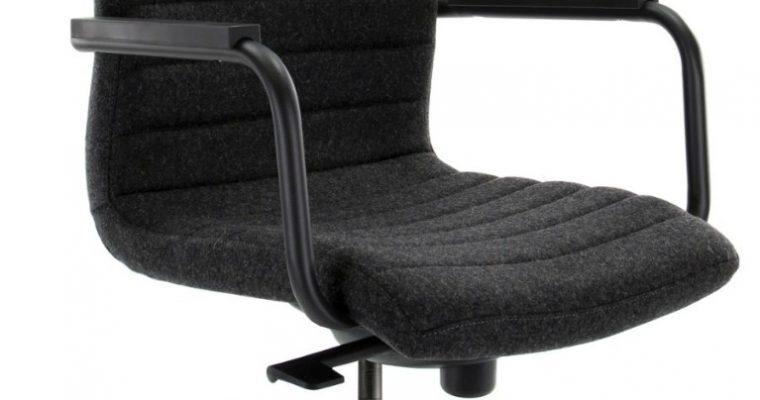 24Designs Bergamo Bureaustoel – Stof Donkergrijs – Zwarte Kunststof Kruispoot | 8720289853181