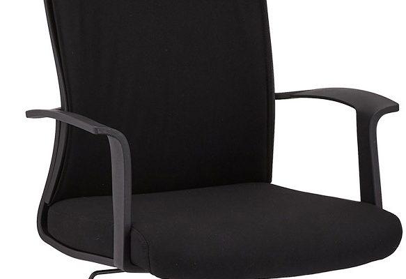24Designs Bolero Bureaustoel – Stof – Kunststof – Zwart   8720195957171