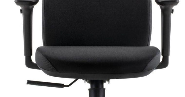 24Designs Move ECO-1 Bureaustoel – Zwarte Stof – Zwarte Kruispoot Met Wielen | 8720289853365