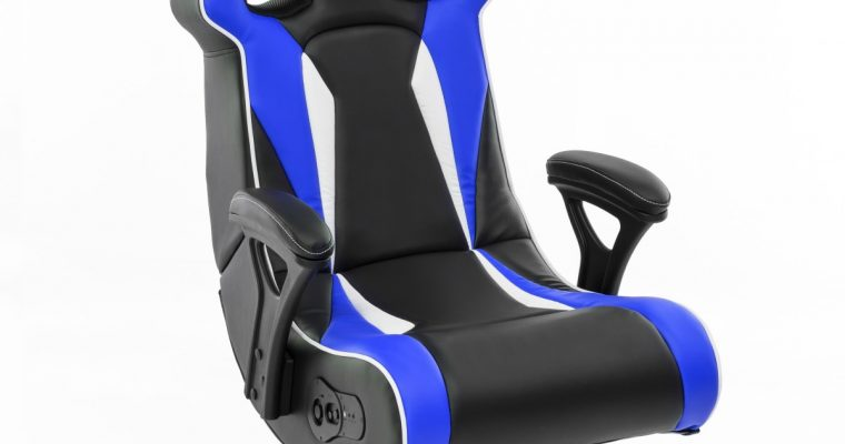 24Designs Silverstone – Racestoel Gamestoel Rocker – Bluetooth&Speakers – Zwart / Blauw | 8719323478824