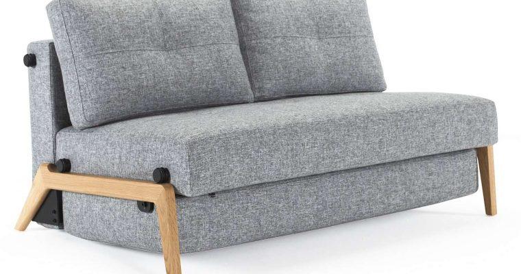 Innovation Slaapbank Cubed 140 – Twist Granite 565 – Eikenhouten Poten | 8720195951551