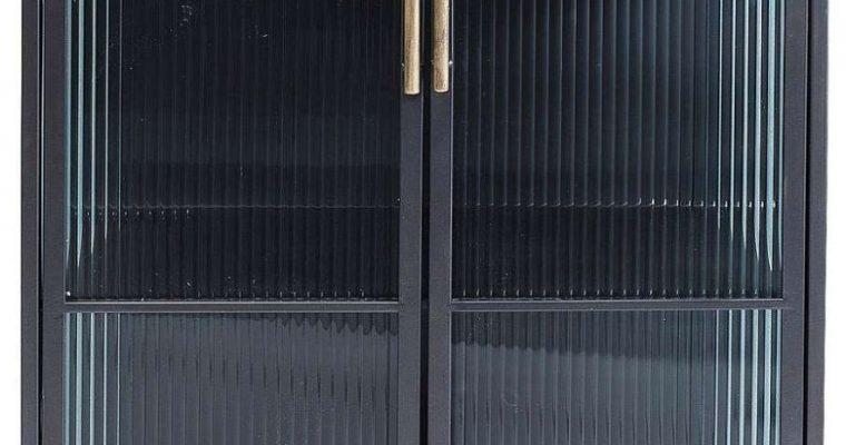 Kare Design La Gomera Vitrinekast 2-Deurs – 72 X 38 X 120 Cm – Zwart | 4025621841388