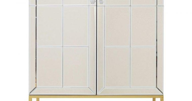 Kare Design Luxury Barkast – B89xD47xH181 Cm – Champagne Spiegelglas – Messing Onderstel | 4025621842668