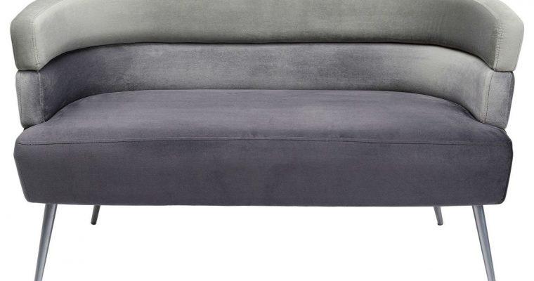 Kare Design Sandwich Bank – B125xD64xH64 – Velvet Grijs – Gouden Poten   4025621847816