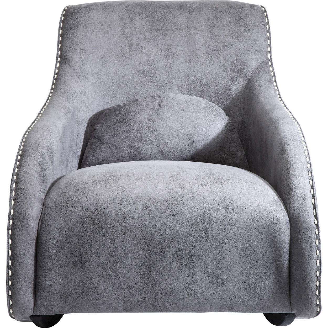 Kare Design Schommelstoel Swing Ritmo Vintage Kunstleer Grijs | 4025621794035