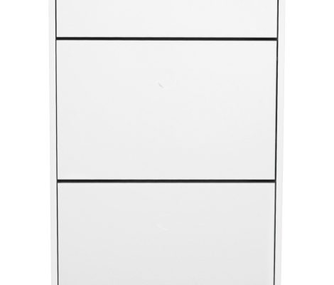 Tenzo Schoenenkast Dot 3-Vakken – 57.5x24x128 – Wit – Eiken Poten | 7394084079865