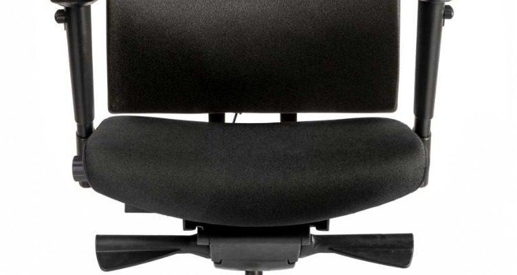 24Designs Charleston Ergonomische Bureaustoel EN1335 – Stof Zwart – Zwart Onderstel | 8719323474697