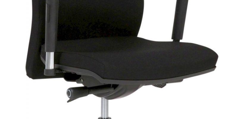 24Designs Lucca Bureaustoel – Stof Zwart – 5-teens Kruispoot Aluminium   8720289853204