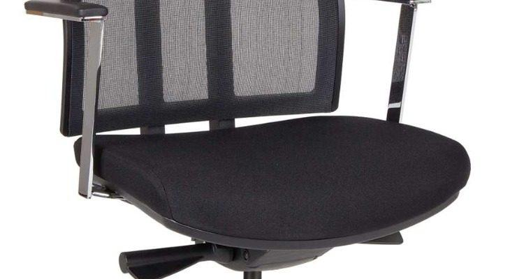 24Designs Oxford Office Bureaustoel – Stof/Mesh Zwart – Aluminium Onderstel   8719323474840