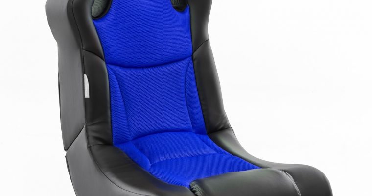 24Designs Racer – Racestoel Gamestoel – Bluetooth&Speakers – Zwart / Blauw | 8719323478299