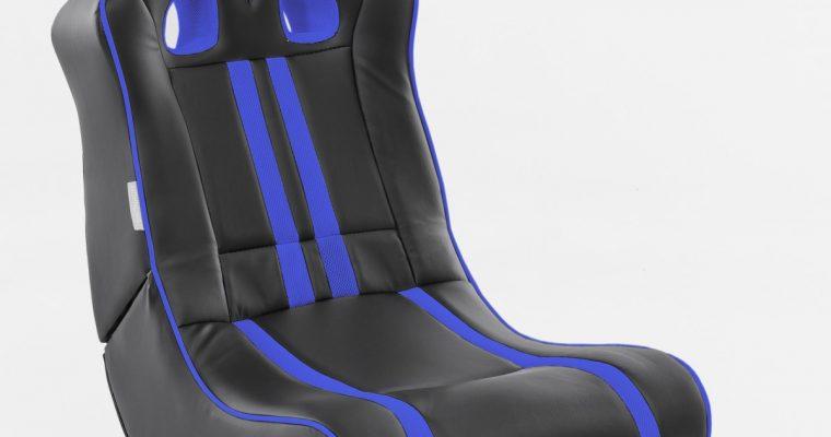 24Designs Racestoel Gamestoel Monaco – Bluetooth&Speakers – Zwart / Blauw | 8719323478497