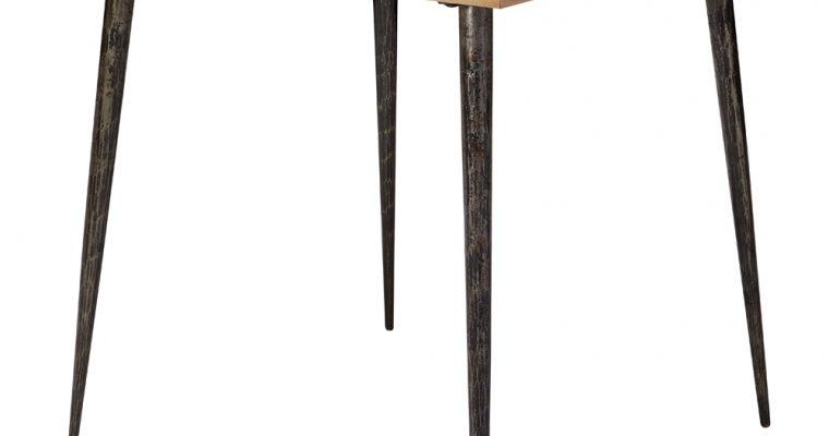 24Designs Rune Eettafel – L80xB80xH76 Cm – Visgraat Tafelblad – Zwarte Poten   8720143247873