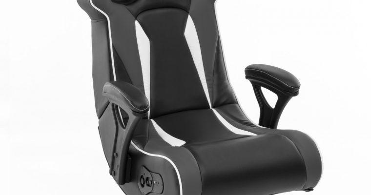 24Designs Silverstone – Racestoel Gamestoel Rocker – Bluetooth&Speakers – Zwart / Grijs | 8719323478831