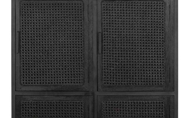 24Designs Spiderman Lockerkast Webbing 6-Deurs – 80x40x160 Cm – Zwart Hout | 8720146500531