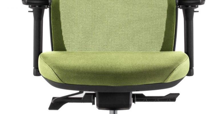 24Designs Work SYNCHRO-4 Ergonomische Bureaustoel EN1335 – Groene Stof/Mesh – Zwart Onderstel   8720289852054