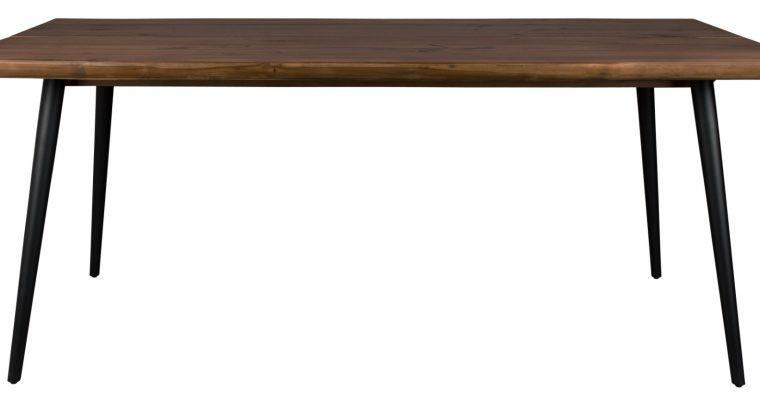 Dutchbone Alagon Eettafel – L180xB90xH75 Cm – Tafelblad Walnoothout – Zwart Metalen Poten | 8718548035997
