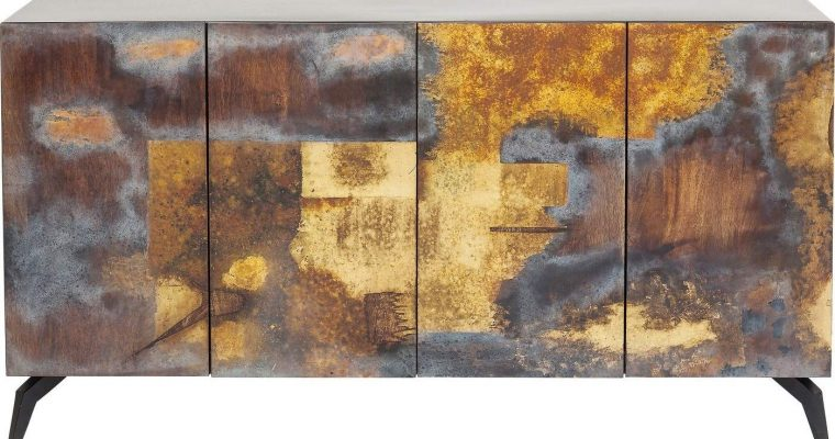 Kare Design Oxy Dressoir – B150 X D41 X H80 Cm – Mangohout En Metaal | 4025621839262