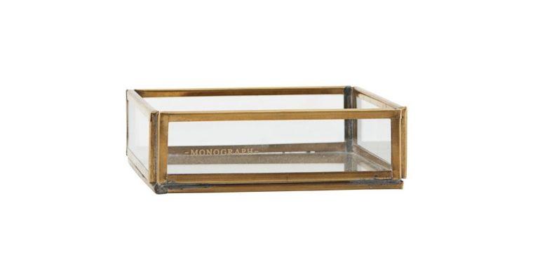 Monograph Opberg box Brass 10cm | 403990167 | Monograph