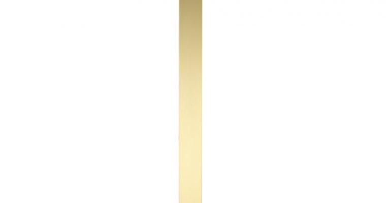SCAB Design Tiffany Vierkante Bistro Eettafel 80 X 80 Cm – Marmer Effect Tafelblad – Messing Onderstel |