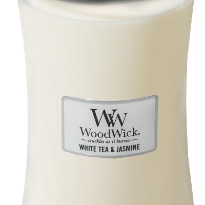 Woodwick White Tea & Jasmine kaars groot   93062E   Woodwick