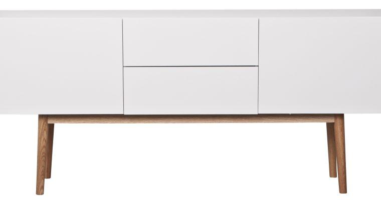 Zuiver Dressoir High On Wood – L160 X B40 X H71.5 Cm – 2DR 2DO – Wit   8718548018686