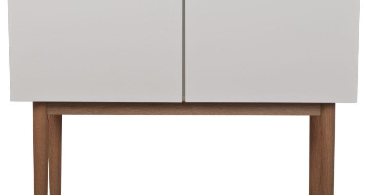 Zuiver Dressoir High On Wood – L90 X B40 X H80 Cm – 2DO – Wit   8718548018709