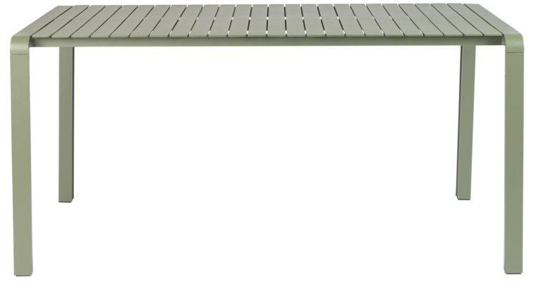 Zuiver Vondel Aluminium Tuintafel – L168 X B87 X H75 Cm – Gepoedercoat Groen   8718548055544