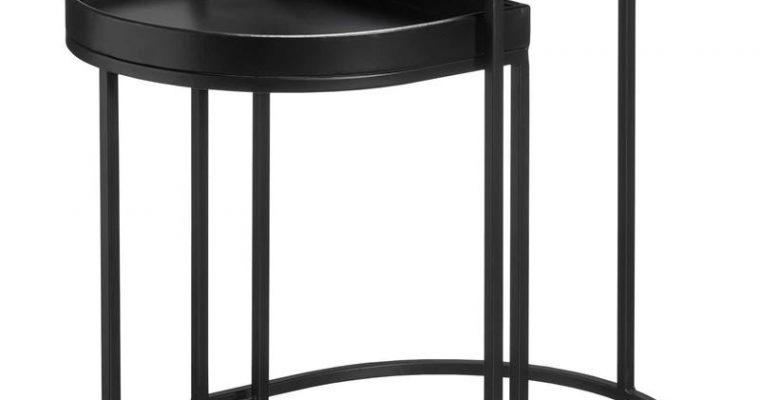 Bijzettafel Amalfi Zwart Wit