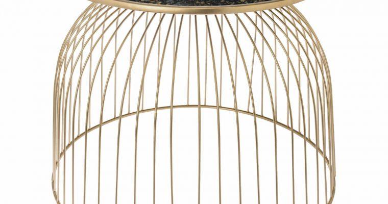 Riverdale Bijzettafel Ise goud 54cm   304708-20   Riverdale