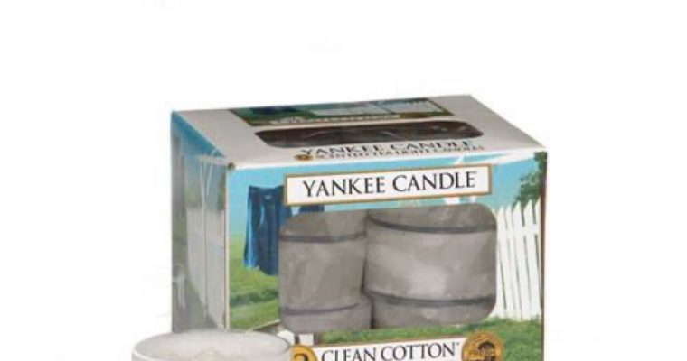 Yankee Candle Clean Cotton waxinelichtjes 12 stuks   1016718E   Yankee Candle