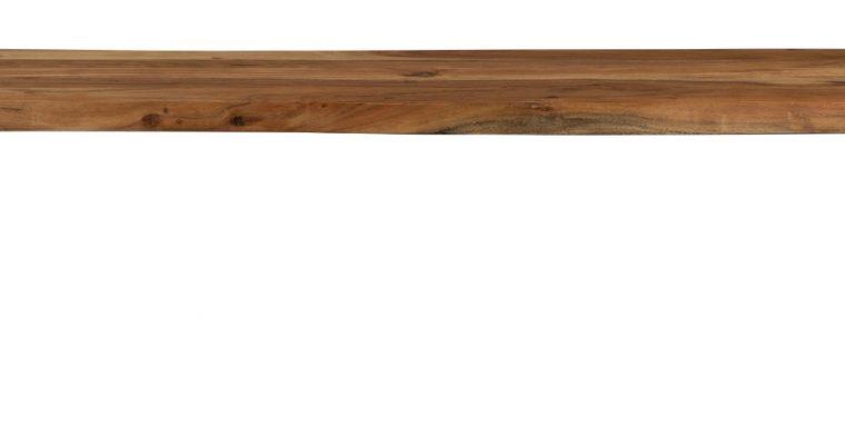Dutchbone Aka Boomstam Eetbank – L180 X B45 X H43 Cm – Acacia Hout – Zwart Metalen Onderstel | 8718548057227