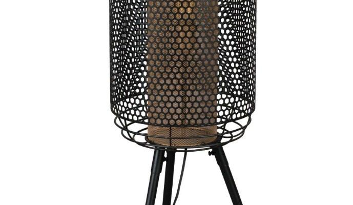 Dutchbone Archer Vloerlamp XL – B37,5xD35xH111 Cm – Messing En Zwart Metaal | 8718548046849