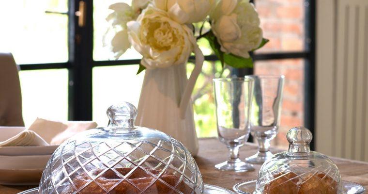 Glazen stolp op bord set van 4 Darlington | 4250769200777 | LOBERON