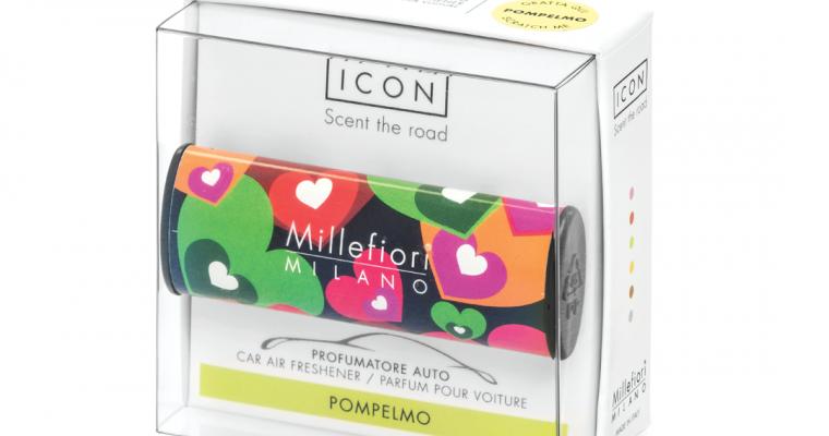 Millefiori Milano Icon car 07 Pompelmo – Cuori E Fiori autoparfum | 16CAR07 | Millefiori Milano