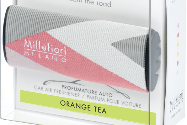 Millefiori Milano Icon car 48 Orange Tea – Textile Geometric autoparfum | 16CAR48 | Millefiori Milano
