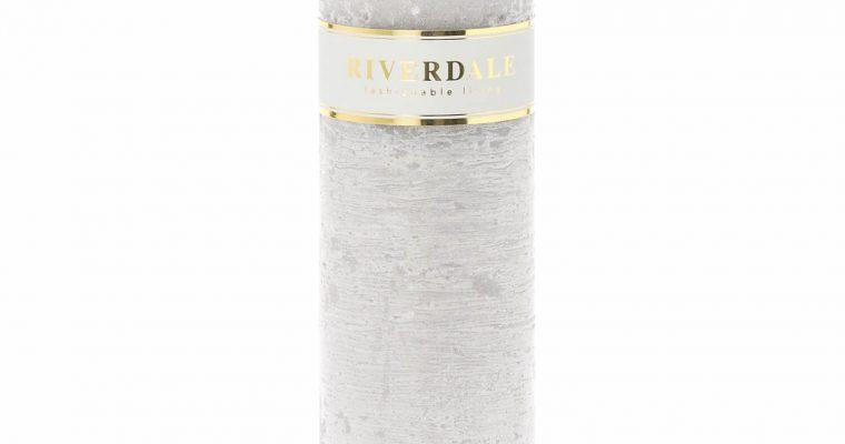 Riverdale Kaars Pillar grijs 7x20cm   009240-18   Riverdale